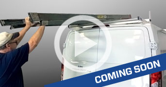 Watch the Ford Transit 3 Bar Utility Rack W/ Roller in action
